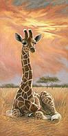 Алмазная вышивка Жираф на закате