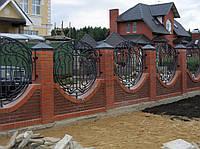 Кованый забор в форме шара №7