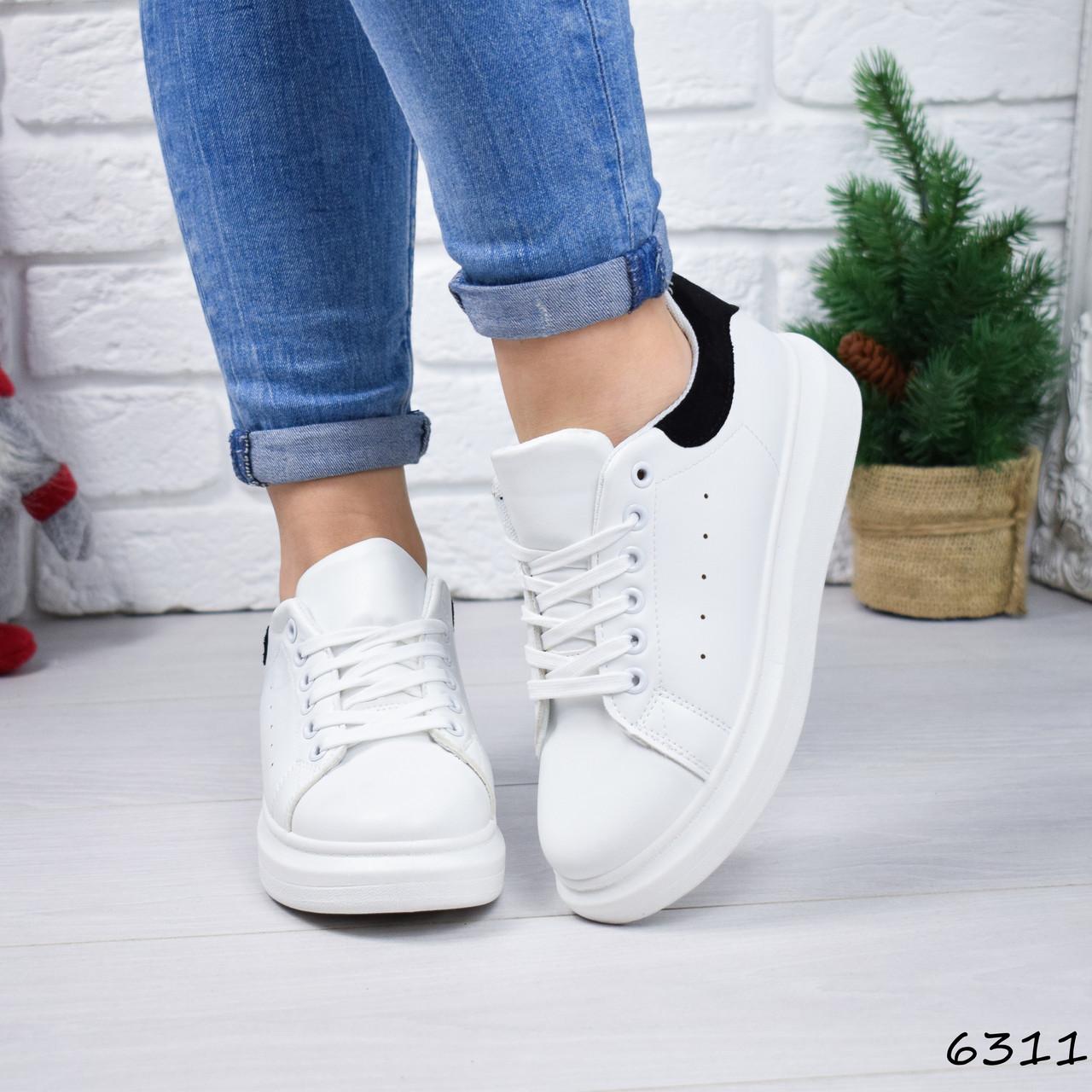 Женские кроссовки Fresh белый + черный 6311
