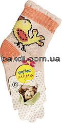 Шкарпетки Eslayn розмір 0 (0-6 міс.) махра рожевий на дівчинку для новонароджених ТН-146Т