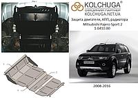 Защита на радиатор, двигатель, редуктор для Mitsubishi Pajero Sport 2 (2008-2016) Mодификация: все Кольчуга 1.0410.00 Покрытие: Полимерная краска