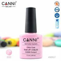 Гель-лак CANNI № 200 (розовый перламутр), фото 1