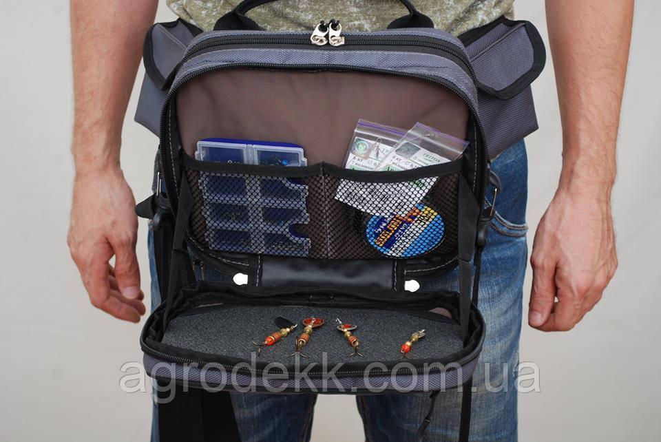 Универсальная поясная сумка с держателем спиннинга