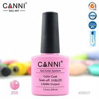 Гель-лак CANNI № 205 (розовый с голографическим микроблеском), фото 1