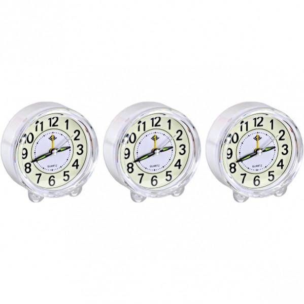 Настольные часы - будильник «Круг» с подсветкой 8,5×4 см                 903