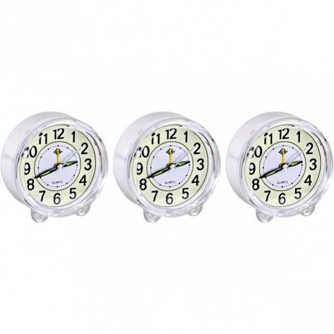 Настольные часы - будильник «Круг» с подсветкой 8,5×4 см                 903, фото 2