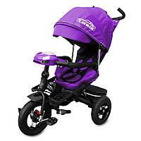 Детский Велосипед трехколесный TILLY CAYMAN с пультом и усиленной рамой Т-381 фиолетовый