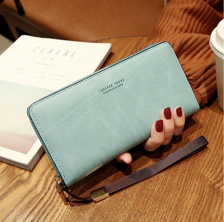 Жіночий гаманець SUNROZ Forever Young клатч з ремінцем Блакитний (SUN2977)