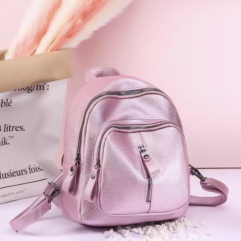 Женский, городской рюкзак сумка Пилония розовый