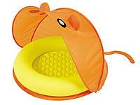 Детский надувной бассейн Bestway оранжевый с навесом.