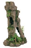 Декорация Trixie Скала с пещерой и растениями, 28 см.