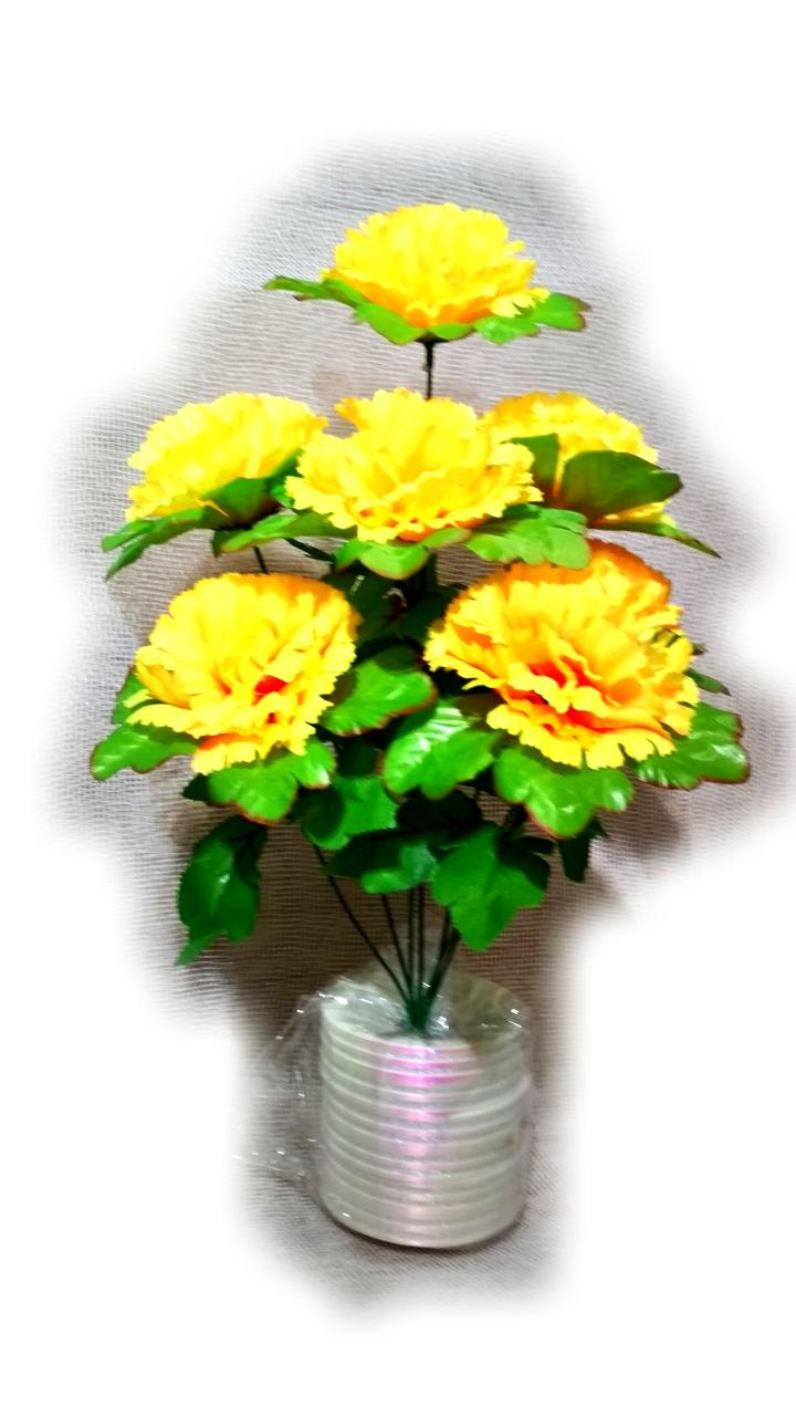 Букет хризантемы на 7 голов NЖ 1 (16 шт./ уп.) Искусственные цветы оптом