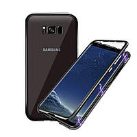 Магнитный чехол для Samsung Galaxy S8 бампер накладка Case Magnetic Frame черный