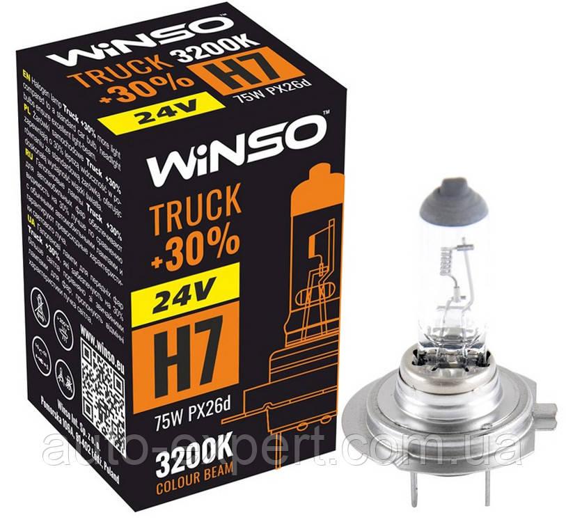 """Автомобильная галогенная лампа """"Winso"""" H7 Truck +30% (24V)(75W)"""