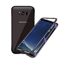 Магнитный чехол для Samsung Galaxy S8 Plus бампер накладка Case Magnetic Frame черный