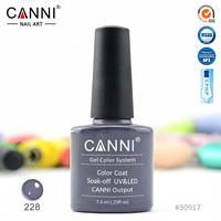 Гель-лак CANNI № 228 (светло-графитовый), фото 1
