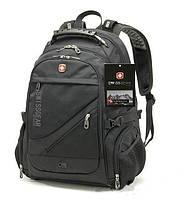 Водозащитный рюкзак сумка Swissgear 8810 с USB Черный
