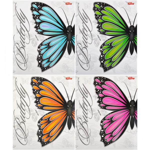 Тетрадь цветная 60 листов, клетка «Бабочки»            12 штук                1896к