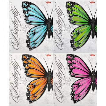 Тетрадь цветная 60 листов, клетка «Бабочки»            12 штук                1896к, фото 2