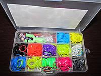 Набор для плетения браслетов, резинки, крючок, рогатка, клипсы, фото 1