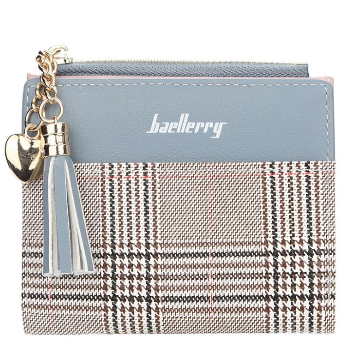 Жіночий гаманець BAELLERRY Young Mini клатч Блакитно-Коричневий (SUN2980)