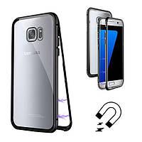 Магнитный чехол для Samsung Galaxy S7 бампер накладка Case Magnetic Frame черный