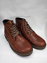 Зимние мужские ботинки больших размеров  из натуральной кожи Berg, фото 2