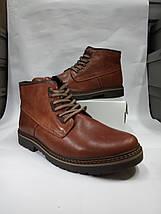 Зимние мужские ботинки больших размеров  из натуральной кожи Berg, фото 3
