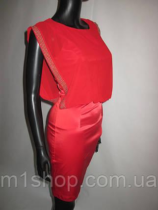 Эффектное красное женское платье, фото 2