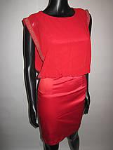 Эффектное красное женское платье, фото 3