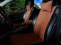Накидки на сиденья коричневые. Передний комплект. СТАНДАРТ. Авточехлы