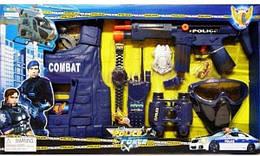 Полицейский набор автомат, жилет, бинокль (33530)