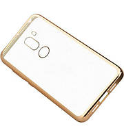 Прозрачный силиконовый чехол для Xiaomi Mi 5s Plus с глянцевой окантовкой Золотой