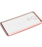 Прозрачный силиконовый чехол для Xiaomi Mi 5s Plus с глянцевой окантовкой Розовый
