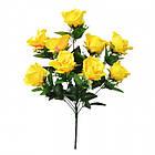 Букет розы на 10 голов NС 310 (8 шт./ уп.) Искусственные цветы оптом, фото 3