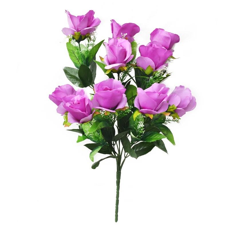 Букет розы на 10 голов NС 310 (8 шт./ уп.) Искусственные цветы оптом