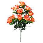 Букет розы на 10 голов NС 310 (8 шт./ уп.) Искусственные цветы оптом, фото 6