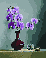 Картина по номерам Орхидея в вазе (Худ. Питер Вагеманс), 40x50 см., Домашнее искусство