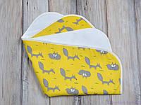 Непромокаемая пеленка многоразовая детская (размер 60*80 см), Лисы, фото 1