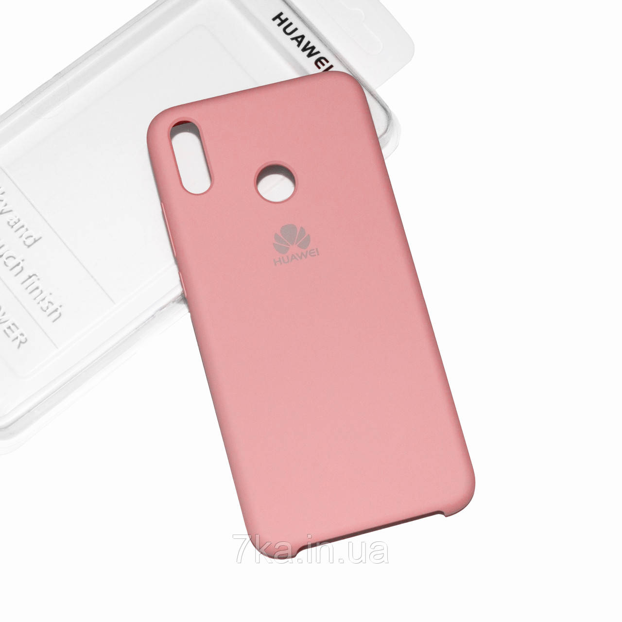 Силиконовый чехол на Huawei Honor 8X Soft-touch Pink