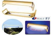 Светильник алюминиевый Resun DL-40R Gold, 2x40 Вт.