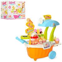 Игровой набор Мой Магазин Сладостей и Мороженого, прилавок - тележка, мороженое, звук, свет,668-49-50