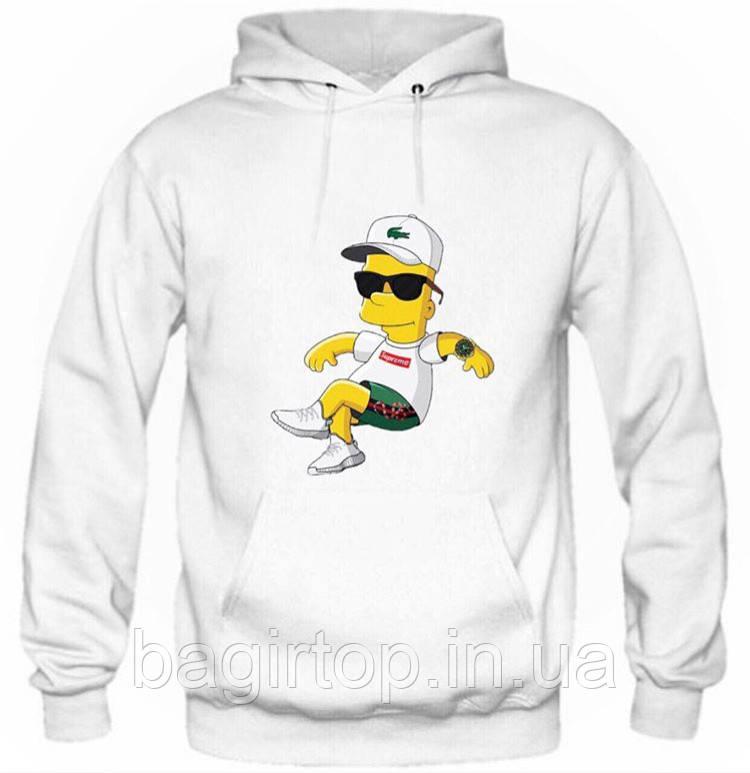 Мужская толстовка с капюшоном - Барт Симпсон (зима)