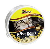 Витамины Gimpet Kase-Rollis для кошек, c твердым сыром, 400шт