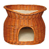 Домик Trixie Wicker Cave with bed on top, для котов