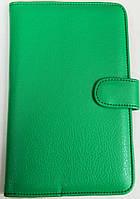 Чехол для планшетов с диагональю 7 дюймов зелёный сделанный из искусственной кожи