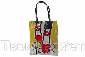 ОПТ/Розница Сумка женская пляжная кожзам с комплекте с косметичкой и ремешком для ключей