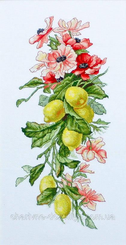 """Набор для вышивания крестиком (натюрморт) """"Цветы и лимоны"""""""
