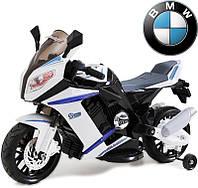 Детский электрический мотоцикл M 2769 EL-2-1 черно-белого цвета