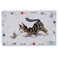 Коврик Trixie Comic Cat, под миски для котов, 44*28см